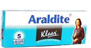 Araldite Epoxy Resin Glue Transparent Quick Dry 2 Part Clear Epoxy Adhesive 10g by Araldite