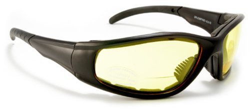 Bifocal Padded Sunglasses Motorcycle Riding Lens with Magnifier Inserts Power Magnifier Sun - Inserts Bifocal