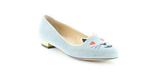 charlotte olympia Abstract Women's Flats & Oxfords Sky Blue Size 8.5 M