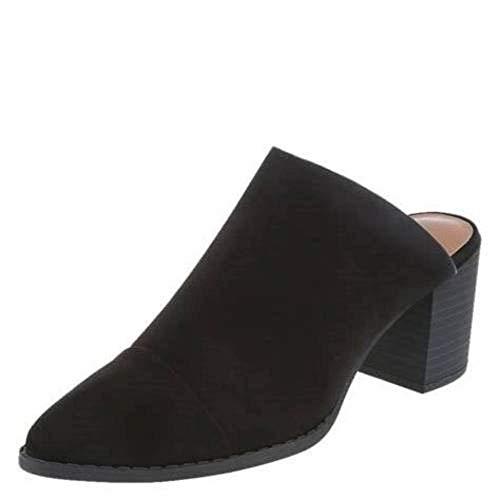 American Eagle AE Womens Dani Block Heel Mules Slip On Shoes, US 11, Black