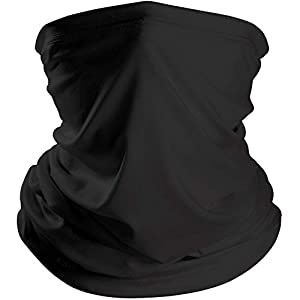 Ligart Lightweight Thin Neck Gaiter Face Scarf Cover Masks Headwear Bandana Protection from Sun, Dust, Wind for Outdoor…