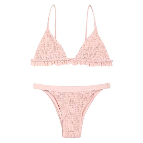 Qpika Swimsuit for Women Fashion High Waist Bandage Bikini Set Monokini Swimwear Beach for $<!--$2.99-->
