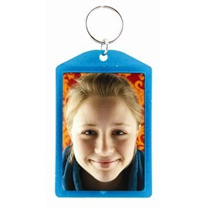 2x3 Teal Translucent Sparkle Photo Keychains - Case of 144 by Snapins