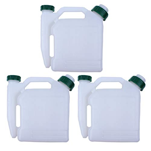 3Pcs/lot 1.5L 2-Stroke Oil Petrol Fuel Mixing Bottle Tank For Trimmer Chainsaw Brushcutter Blower 1:25