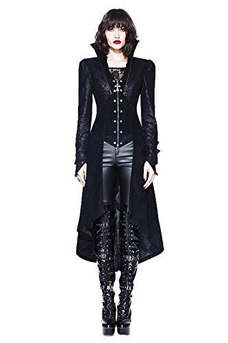 Veste Hiver Femmes Stand Gothique Palace Manteau Fashion Devil Vintage Steampunk Col Style Sexy Noir Long 6qwx5FZE