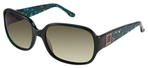 BCBGMaxazria Women's Fabulous Rectangular Sunglasses, Green Forest, 44.5 - Bcbgmaxazria Sunglasses