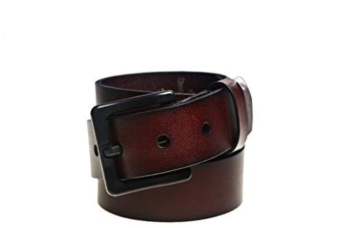 Metal Free Italian Leather 35mm Brown 50-52 Belt-Airport Friendly Nickel Free Black Buckle by Beep Free Belts
