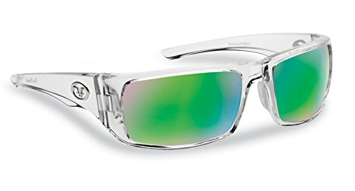 Flying Fisherman Morocco Polarized Sunglasses, Crystal Frame, Amber-Green Mirror - Crystal Frame Sunglasses