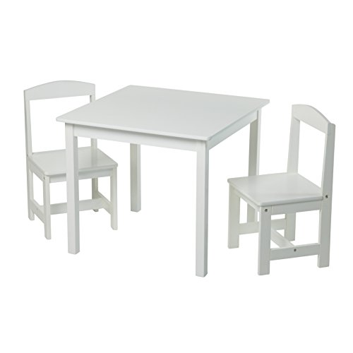 Target Marketing Systems Hayden 3 Pc Kids Table And Chairs, White (Dining Set Hayden)