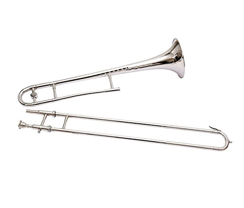 NASIR ALI NICKEL SILVER TROMBONE SLIDE Bb PITCH FOR SALE WITH FREE HARD CASE AND MOUTHPIECE by Nasir Ali & co.