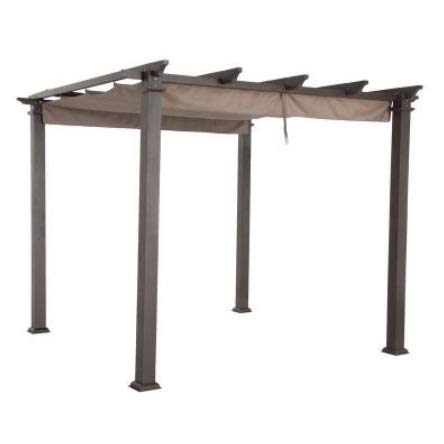 Garden Winds Replacement Canopy Top Cover for Home Depot Hampton Bay GFM00467F Pergola - Standard 350 Fabric (Depot Covers Home Outdoor Furniture)