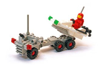 LEGO LEGOLAND 6870 - Classic Space Set von 1981 - Space Probe Launcher