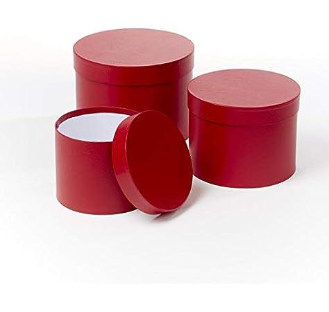 OASIS Symphony - Juego de 3 Cajas para Sombreros de Flores, Color Rojo Mate: Amazon.es: Hogar