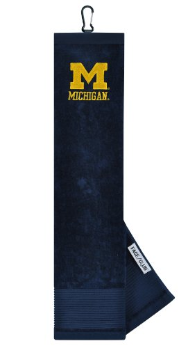 Michigan Wolverines Face/Club Embroidered Towel