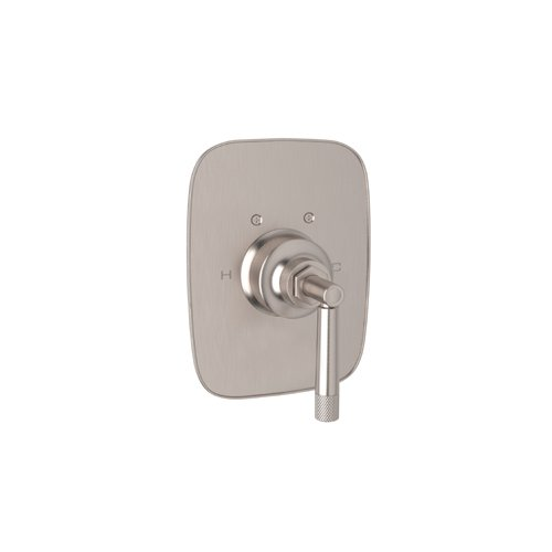Rohl MB2040LMSTN Michael Berman Graceline Concealed Thermostatic Mixer Trim Package Only with Metal Lever - for Valve with Temperature Control Only, Satin Nickel by Rohl