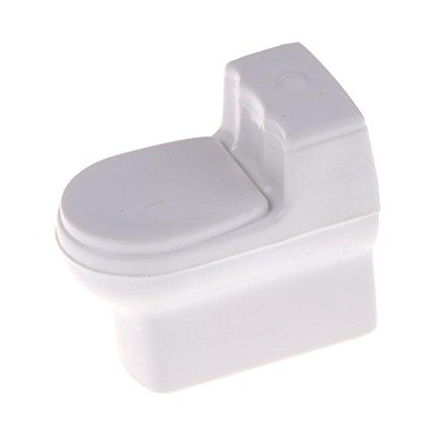 energi8_9cn Dollhouse Miniature Bathroom Toilet