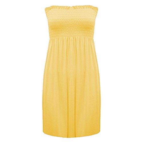 8 22 Plus Senza Top Fashion Spalline Yellow Less Womens A Ladies Canottiera Size Stampato Cascante Abito Fascia 4 vIqaI4Z