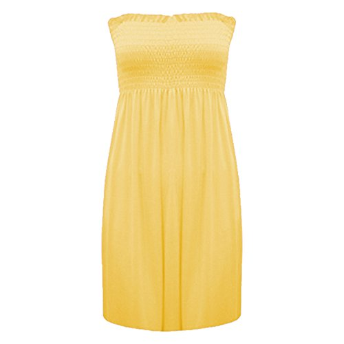 Abito Fascia Womens Senza Size Fashion Spalline Plus Less 22 8 Cascante A Ladies Stampato Canottiera Top 4 Yellow 6PPzwqAE