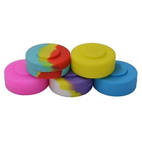 HomeSto 5Pcs Fda Box Bho Silicone Slick Oil Butane Wax Concentrate Hash Container Jars - Non Stick Dab Jar (Best Butane For Bho)