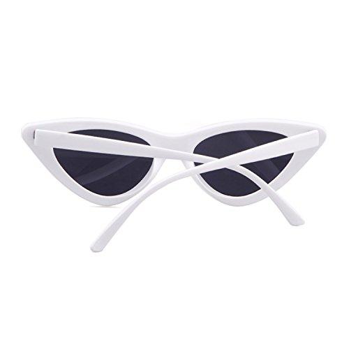 vintage estilo de de Cobain de Marco protección mujeres ojo sol Gafas gato sol niñas retro Gafas para Gris de de ADEWU Kurt gafas Lente Blanco wZx7q0Oq