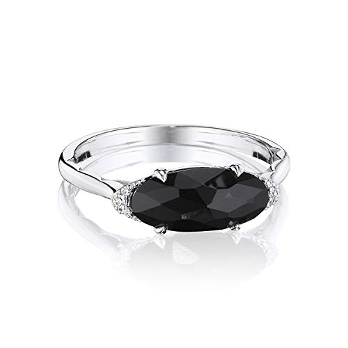 Tacori SR22319 Sterling Silver Black Onyx Oval Cut Ring, Size 7