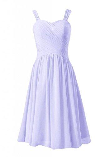 Daisyformals Robes Courtes Robes En Mousseline De Soie Homecoming Robe De Demoiselle D'honneur (bm800) # 7-lavande