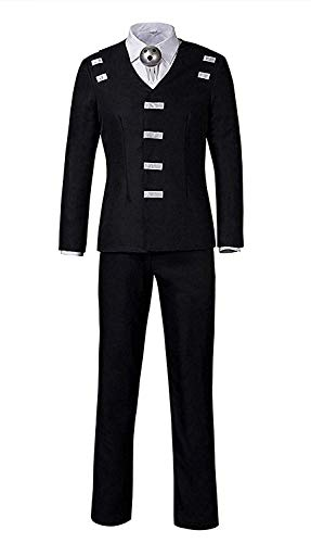 LYLAS Men's Halloween Black Uniform Full Sets Cosplay Costume (Male-S)