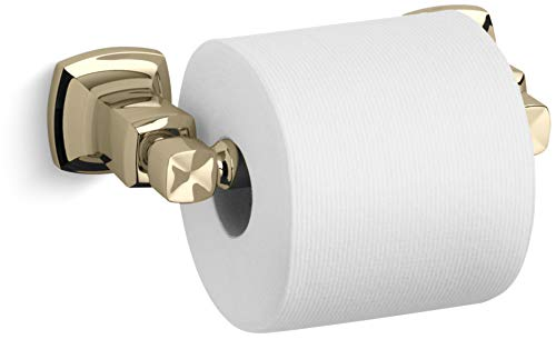 French Gold Toilet Tissue Holder - Kohler K-16265 Horizontal Toilet Paper Holder, Vibrant French Gold