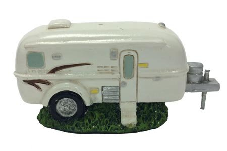 Country Axentz Vintage RV Camper Trailer Miniature Collectible Figurine, -