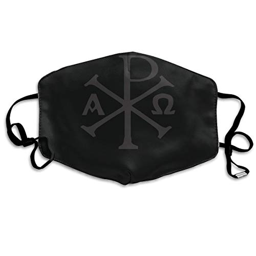SDQQ6 Chi Rho Christian Mouth Mask Unisex Printed Fashion Face Mask Anti-dust Masks for $<!--$14.55-->