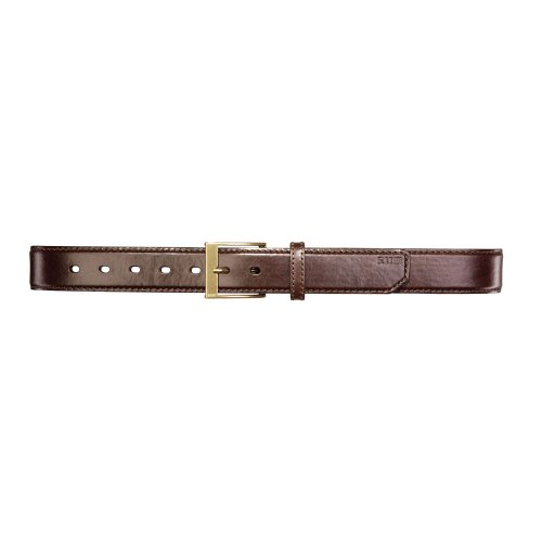 - 5.11 Tactical Men's 1.5-Inch Full Grain Leather Casual Brown Belt, Nickel/Brass Buckle, Xtra-Large Style 59501