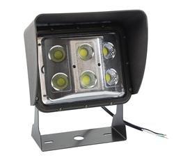 60 Watt Low Profile LED Wall Pack Light with Glare Shield - Wide Flood Beam - U-Bracket Mount(-120-2