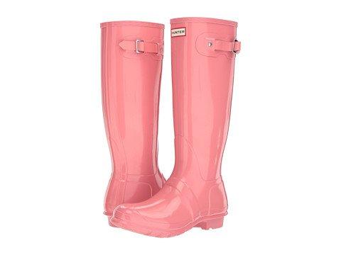 (ハンター) HUNTER レディースレインブーツ長靴 Original Tall Gloss [並行輸入品] B06XY2BNHJ 25.0 cm|ピンク ピンク 25.0 cm
