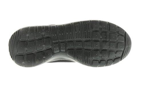 NEU Jungen / Kinder schwarz einfarbig Netz leicht Phylon Turnschuhe - schwarz / schwarz - UK Größen 1-13