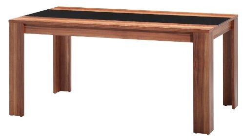 Esstisch nussbaum glas  DESIGN 180 x 90 ESSTISCH Esszimmertisch Tisch walnuss Glas schwarz ...