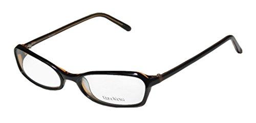 Vera Wang V104 Womens/Ladies Ophthalmic Spectacular Designer Full-rim Eyeglasses/Spectacles (53-17-135, Black / Tan)