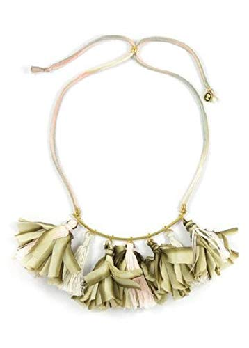 Ariana Ost Dip Dyed Silk Dancing Tassel Necklace, Jewelry for Women - Perfect New Year Gift! ()