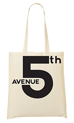 5Th Avenue New York Slogan Bolso De Mano Bolsa De La Compra