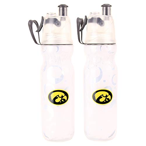 (NCAA Mist N Sip 20-Ounce Squeeze and Spray Insulated Water Bottle 2-Pack (Iowa Hawkeyes))