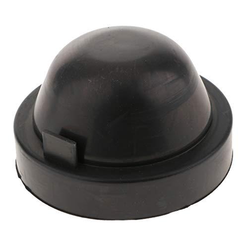 non-brand MagiDeal Carcasa de Goma Universal Casquillo Antipolvo de HID Faro para Coche - Negro 100x65mm