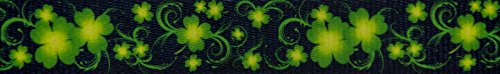 Country Brook Design | 5/8 inch Clovers in The Wind Polyeste