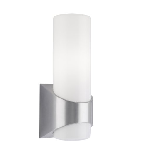 Brushed Aluminum Outdoor Wall (Kichler 9109BA Celino Outdoor Wall Lantern in Brushed Aluminum)