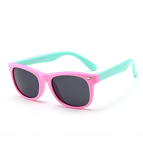 Juslink Toddler Sunglasses, 100% UV Proof Flexible Boys Girl Baby Sunglasses for Kids Age ()