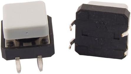 20pcs Momentary Tact Tactile Push Button Switch 12 x 12mm x 8mm 4 Pin DIP w Cap