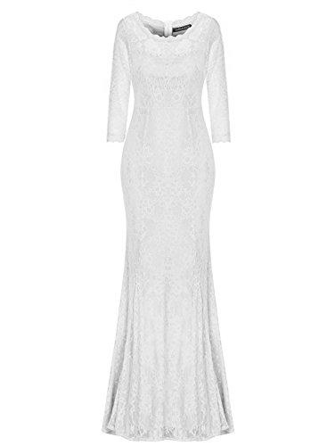 Length Lace Wedding Dress - 4