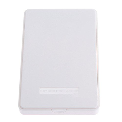 JoyliveStore White USB 3.0 HDD Hard Disk Drive External Enclosure 2.5 Inch SATA HDD Cover Case Box