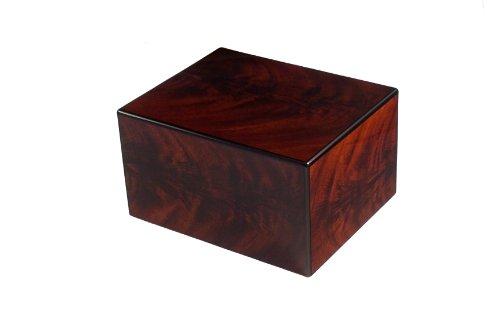 Mahogany Urn - Chateau Urns, Bordeaux Wood Urn, Large Urn, Adult Cremation Urn