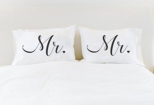 Gay Wedding Gift Mr Mr Pillowcases His and His Mr Mr Pillow Cases Unique Wedding Gift for Gay Couple Gay Wedding LGBT