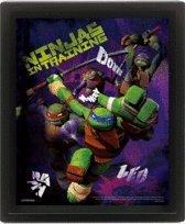 Las Tortugas Ninja imagen 3D pared móvil oficial del cartel ...