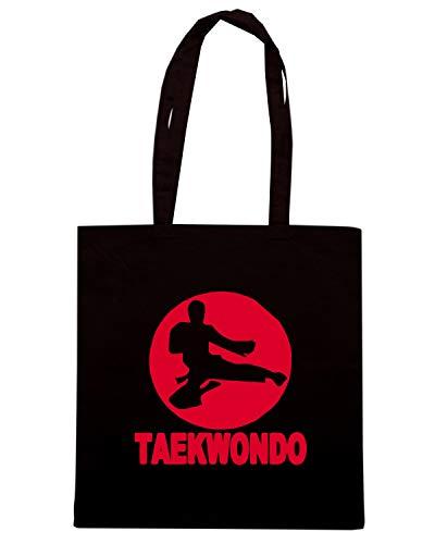Speed Shirt Borsa Shopper Nera TAM0171 TAEKWONDO